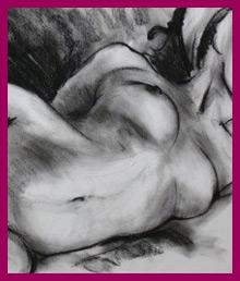 Female sketch Live art