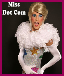 Miss Dot Com Drag queen