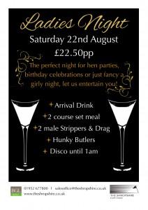 ladies night poster x2