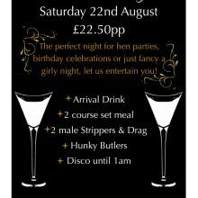 Ladies Night Shropshire Golf Centre 22nd August 2015